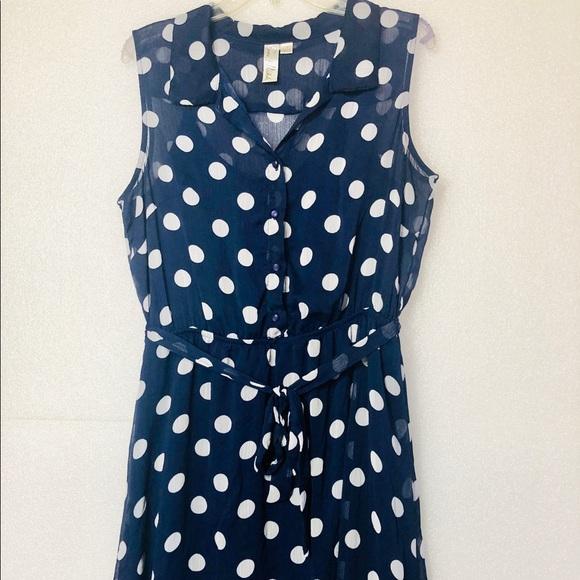 7ae155436e5 Emma & Michelle Dresses | Designer Polkadot Ladies Sleeveless Dress ...